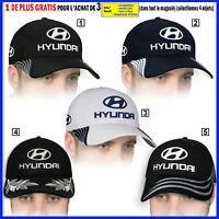 Hyundai Casquette 3D Brodé Logo Auto Voiture Chapeau Baseball Cap Homme Femme
