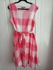 Laura Ashley Pink Check Dress Size 16 39 Inches Long worn once