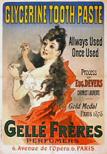 AV64 Vintage Gelle Freres Glycerine Tooth Paste Advertisement Poster Re-Print A4