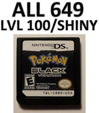 Pokemon Black DS lite DSi XL All 649 LvL 100  Zoroark Event Shiny Game Unlocked