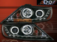FIT FOR 2011-2013 KIA SORENTO BLK DUAL CCFL PROJECTOR HEADLIGHTS W/LED