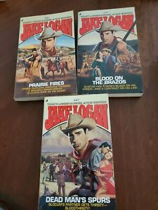 Jake logan lot Prairie Fires #225, Blood on the Brazos 227 and Dead man's Spurs