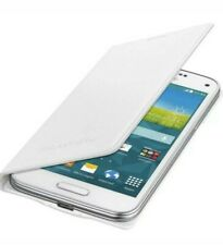 Genuine Samsung Galaxy S5 Mini Blanco Abatible Estuche EF-FG 800 BWEGWW