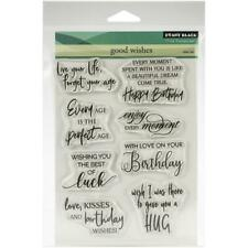 Penny Black Clear STAMPS Good Wishes 5x6.5