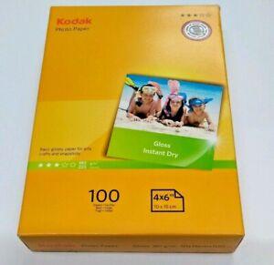 "3 x Kodak Gloss Instant Dry Photo Paper 4x6""10 x 15cm 100 Sheets Pack New Sealed"