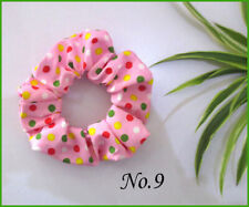 30 Women Girl Fashion Dots Wrinkly Hair Elastic Ties Bands Ponytail Holder Rope