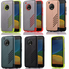 Hybrid Dual Layer Impact Tough Shockproof Armor Hard Case Cover for Moto G5/G5 +