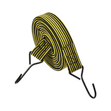 Flat Elastic Cord with Hook 3 Meters x 30mm Latex PP, Yellow and Black, 1 PCS