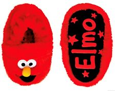 ELMO SESAME STREET Plush House Slippers Infant Size 2, 3 or 4 & Toddler's 5 or 6