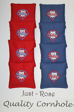PHILLIES LIBERTY BELL Cornhole ACA REGULATION Bean Corn Bags EMBROIDERED NEW