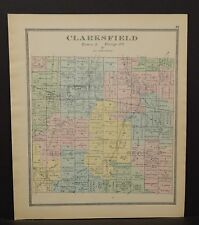 Ohio Huron County Clarksfield Township 1891  !Y14#78