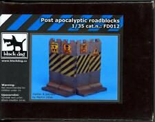 Blackdog Models 1/35 POST APOCALYPTIC FACTORY ROADBLOCKS Resin Set