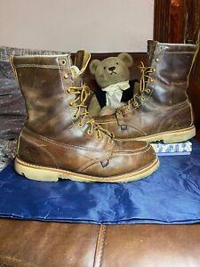 THOROGOOD MEN'S AMERICAN HERITAGE WEDGE WORK BOOTS - STEEL TOE Shoe 12 D