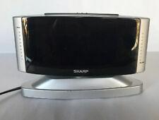 Sharp LED Digital Alarm Clock SPC033 Silver Plug In Wall Outlet Battery Backup