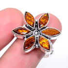 Golden Topaz 925 Sterling Silver Jewelry Ring s.8 W3163