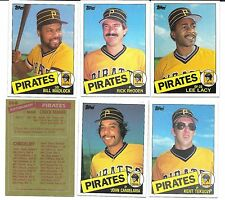 1985 Topps Pittsburgh Pirates Team Set Good Condition