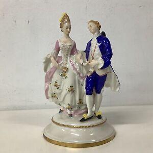 Vintage Porcelain 19th Century Couple Figurine #454