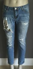 Casual COTTON ON Blue Denim Jeans Distressed Ripped Boyfriend Denim Jeans Size12