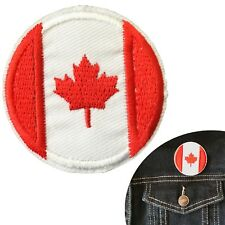Canada Flag round iron on patch Canadian maple circle flags embroidery patches