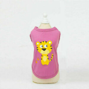 Cute Pet Dog Cat Clothes Summer Puppy T Shirts Clothing Small Dog Chihuahua Vest