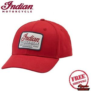 INDIAN MOTORCYCLE BRAND SCOUT ANNIVERSARY HAT RED