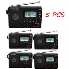 5x Retekess Digital Portable LCD Receiver Mp3 Rec Am FM SW Full Band Radio D6z9