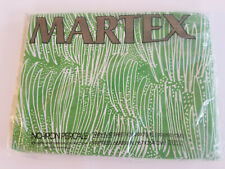 HTF NOS Vtg 70s Martex GREEN GRASS TWIN FLAT SHEET Cindy Mufson BOHO MOD Unusual