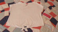 NEW Sunny Leigh Native Summer Crop Top Shirt Womens Large White NWT $50