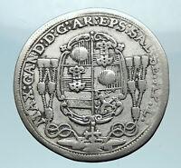 1686 AUSTRIA Salzburg Maximilian Gandolf von Kuenburg SILVER Antique Coin i78965