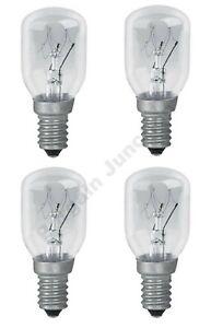 4 x 15w Himalayan rock salt lamp Replacement bulbs SES E14 Pygmy / Fridge Lamp