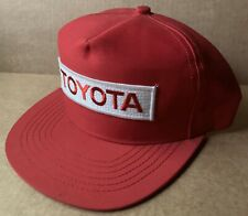 1980s TOYOTA BASEBALL CAP TRUCKER HAT, RED, MADE IN USA, NEW, NOS, VINTAGE