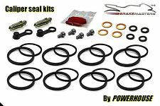 Kawasaki ZZR1100 ZX1100 front brake caliper seal kit C1 C2 C3 1990 1991 1992