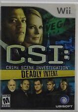 Wii Nintendo CSI: Deadly Intent