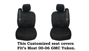 Black Scottsdale Fabric Customized seat covers Fit's 00-06 GMC Yukon.