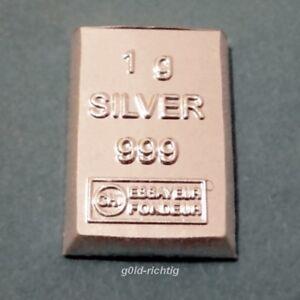 1 - 100 GRAMM SILBERBARREN 1g 10g 100g Silber ESG Valcambi 999 Feinsilber Barren