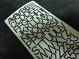 """2"""" inch (50mm) Letters and Numbers Self Adhesive Vinyl Lettering Stickers Decals"""