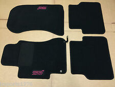 2002 - 2007 Subaru Impreza WRX STI Carpeted Floor Mats Genuine OEM - Black