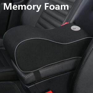 Deluxe Black Car Seat Armrest Cushion Center Console Pillow Pad Kit Memory Foam