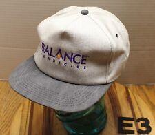 NWOT VINTAGE BALANCE HERBICIDE AGRICULTURE FARMING HAT 2 TONE GRAY E3