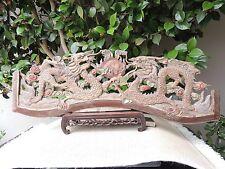 816. Antique Carved Gold Gilt  Wood Panel w/ Dragon