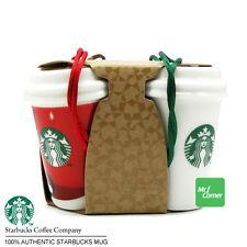 star415 starbucks Christmas gift logo cup mug Ceramic ornament set of 4 NEW