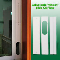 3x Adjustable Window Slide Kit Plate For Portable Air Conditioner Wind Shield FA