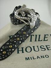 Reptile's House original Gürtel mit Schliesse Sattelleder aufwendige Deco neu 01