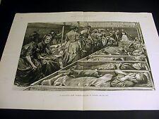 Paul Renouard SALVATION ARMY WOMEN'S SHELTER Casket Beds 1892 Large Engraving