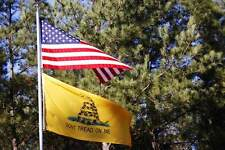Wholesale Lot 4x6 Foot Usa American & Gadsden Dont Tread on Me Flag 4'x6' Set