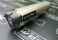 Aprilia RSV 1000 Mille 1998-2003 Titanium Tri Oval, Carbon Outlet Exhaust Can
