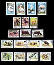 Lot, WWF, 4 complete Cancelled Sets, Elephant, Pelican, Birds, Animals, Bats (n)