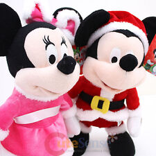 Disney Mickey Minnie Mouse Animated Christmas Dancing Sing a Song Plush Doll