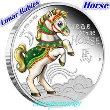 2014 Lunar Year Cute Baby Horse 1/2oz Colorized Silver Proof Coin Perth COA Box!