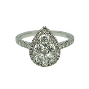 SALE 18ct White Gold & Diamond Cluster Ring